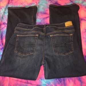 American eagle bootcut jeans size 14 short